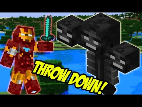 Iron Man VS The Wither (Minecraft Mods)