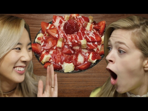 People Try Korean Shaved Ice