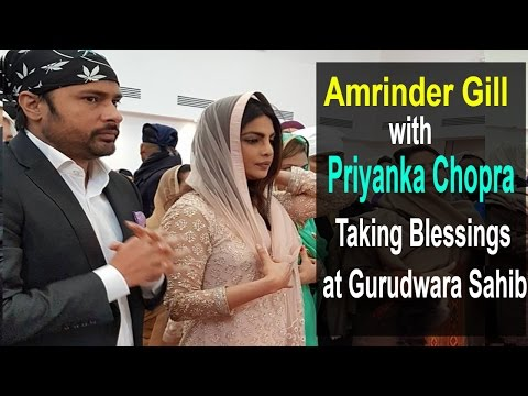 Priyanka Chopra with Amrinder Gill  Prays at Gurudwara New Punjabi Movie Trailer Sarvan 2016 Trailer
