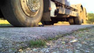 Big truck vs metal toy car focus