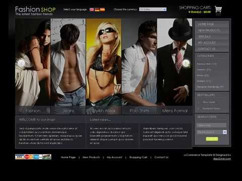 0 Fashion Shop osCommerce template