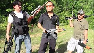 Hmong Thailand practice shooting  guns in USA!