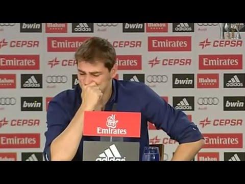 Llorando, Iker Casillas se despide del Real Madrid