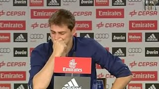 Llorando, Iker Casillas se despide del Real Madrid