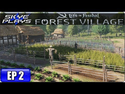Life Is Feudal Forest Village Let's Play / Gameplay - Ep 2 - Medieval City Building Simulation Game