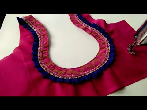 Easy and Beauty Blouse Designs Back Neck Cutting and Stitching ll Latest मटका  गला Blouse
