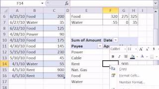Excel Magic Trick 642_ SUMIFS function or PivotTable For Household Budget Summary Table