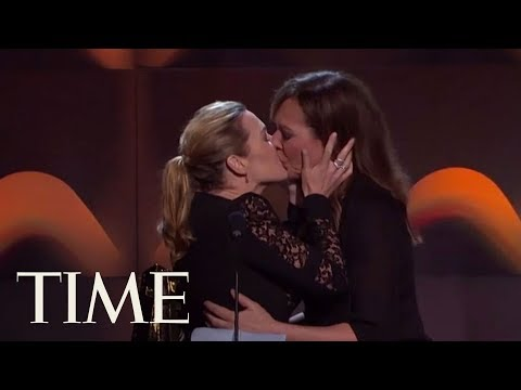 Kate Winslet And Allison Janney Shared An Impromptu Kiss Onstage At The Hollywood Film Awards | TIME