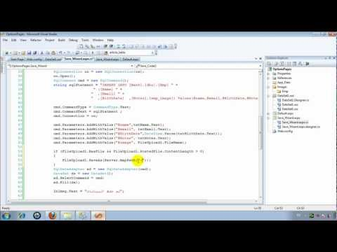 Upload file C# in asp.net  رفع ملف, صورة,فيديو