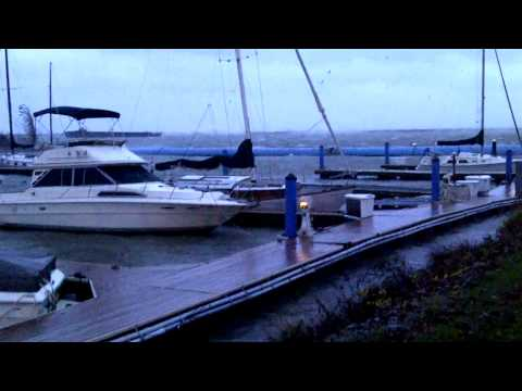 Whiskey Island Marina Hurricane Sandy Cleveland Ohio Boats