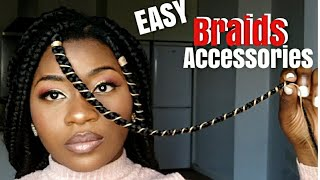 HOW TO DECORATE BRAIDS 😍 WITH YARN STRING (HIGHLY REQUESTED)