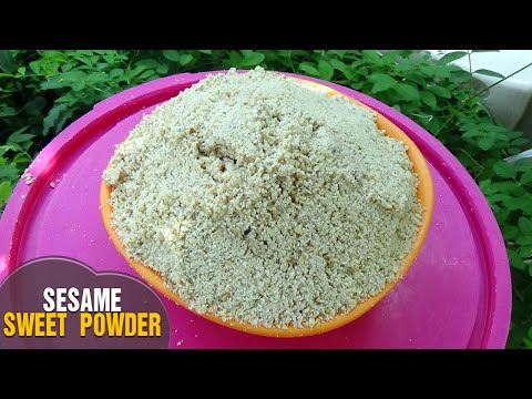 How to Make Simple Sesame Sweet Powder for health ( New Recipe only by Latha Channel )