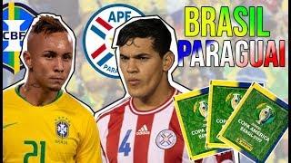 🇧🇷 BRASIL X PARAGUAI 🇵🇾 DEU GOLEADA! Copa América 2019, Quarta de Final (Jogo das Figurinhas)⚽️