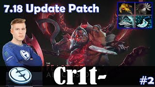 Crit - Pudge Roaming | 7.18 Update Patch | Dota 2 Pro MMR Gameplay #2