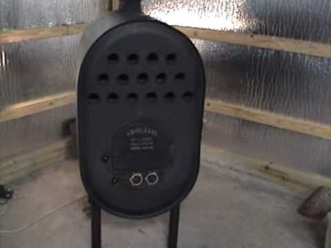 Barrel Stove with heat exchanger - YouTube