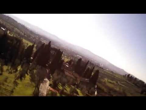 Drone Parrot 2.0 sopra i campi di Ponte a Mensola – Firenze