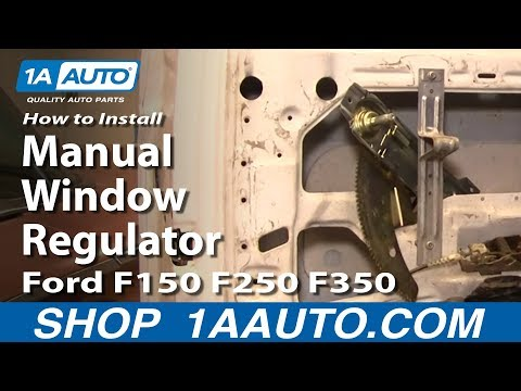How To Install Replace Manual Window Regulator Ford F150 F250 F350 80-96 1AAuto.