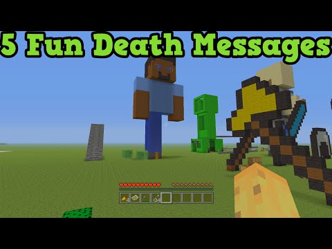 Minecraft Xbox 360 + PS3 - 5 Unique Ways To Die Death Messages