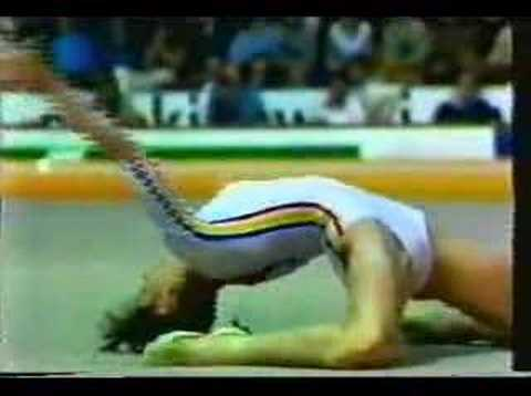 NADIA COMANECI-1979 EUROPEAN'S EVENT FINALS-FLOOR EXERCISE