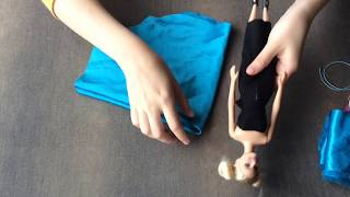 Barbie Prenses Elbisesi Yapımı/Dikimi ( How to make a Barbie dress)