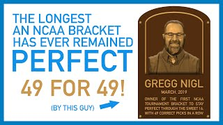 The longest an NCAA bracket has ever stayed perfect