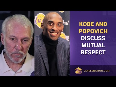 Kobe Bryant Impersonates Gregg Popovich, Discuss Their Mutual Respect