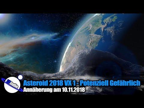 Asteroid 2018 VX1 passiert am 10.11.2018 die Erde - Potenziell Gefährlich
