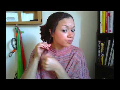 Easy Natural Hair Tutorial: Side Puff and Front Flat Twist