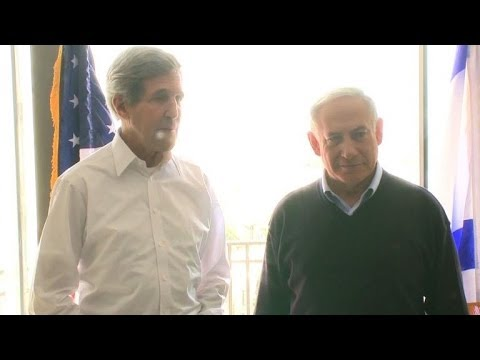 Kerry meets Netanyahu, Abbas on new peace mission