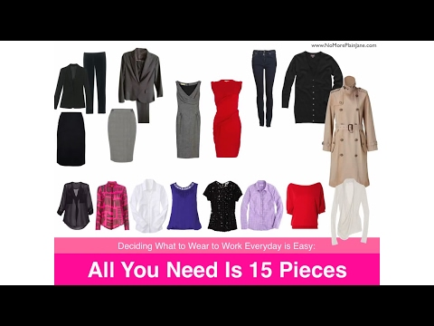 Deciding What to Wear to Work Everyday is Easy All You Need Is 15 Pieces