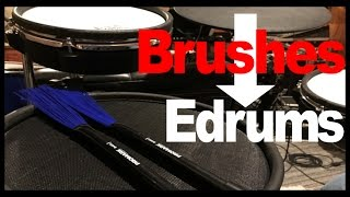 Can You Use Brushes On Electronic Drums?