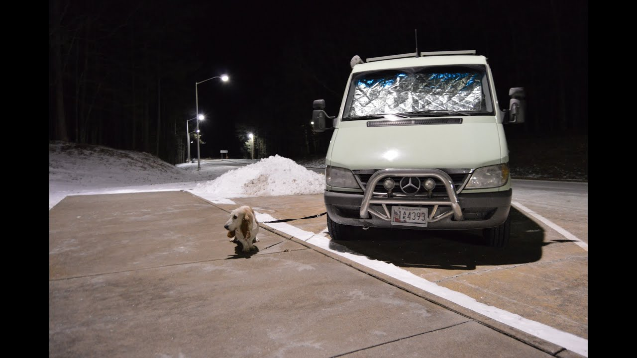 Mercedes Rv Van >> Camper Van Life Off the Grid: Part 1, Winter Camping - YouTube