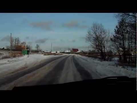 Дорога из Судогды в Загорье зима 2012