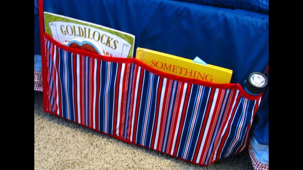 Bedside Pocket Caddy Bedside Book Caddy Tutorial