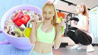 What I eat in a day vegan + gym workout