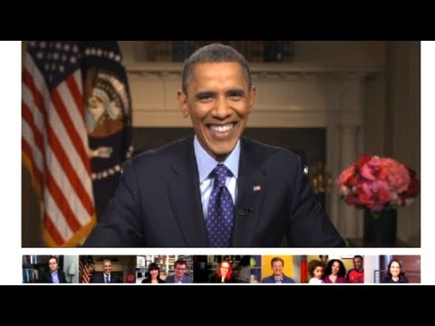 Obama's 2013 Google+ Fireside Hangout - Complete