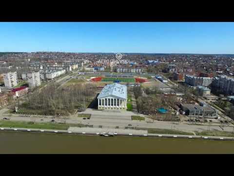 Воткинск и его окрестности аэросъемка