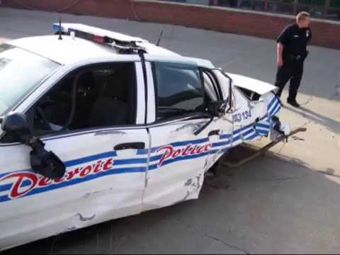 Detroit Police Michigan State Police Wrecked Vehicles