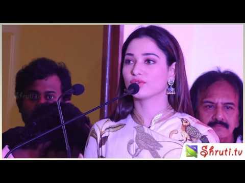 Tamannaah speech at Baahubali 2 press meet thumbnail