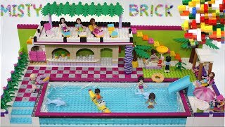 Lego Friends Large Swimming Pool 2 by Misty Brick.