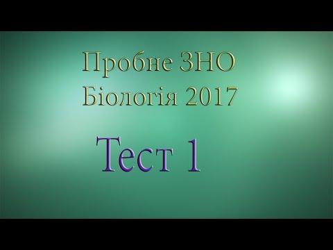 Розбір тестів пробного ЗНО з біології 2017. Тест 1