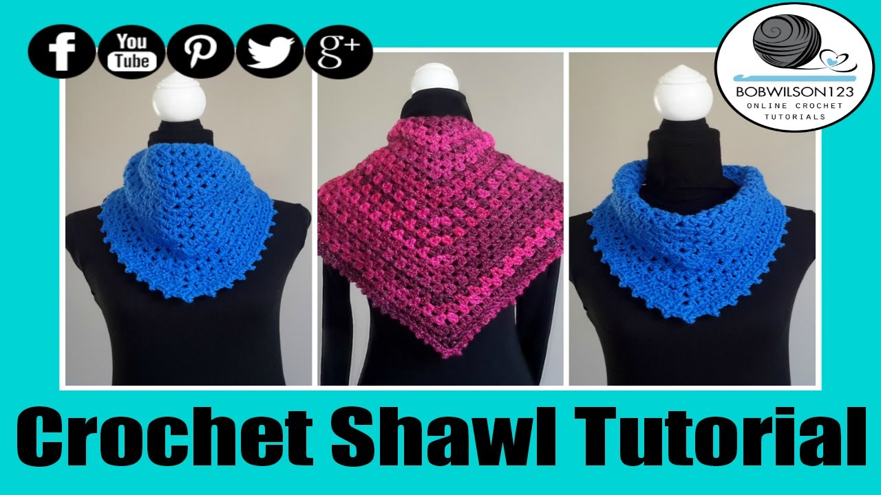 Crochet V-Stitch Shawl Tutorial - YouTube