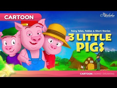 Three Little Pigs kids story cartoon | Bedtime Stories for Kids