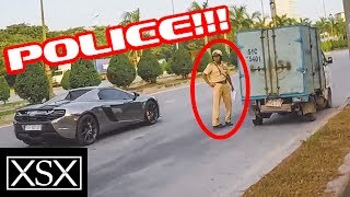 Phản Ứng Của CSGT Khi Thấy Cường Đô La Lái McLaren 650S Spider | XSX