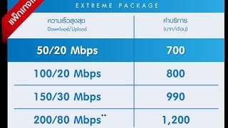 ทดสอบการใช้งานจริง TOT FTTX Fiber2u 100m/20m ไม่มีอวย