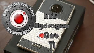 RED Hydrogen One Titanium unboxing, setup, screen.