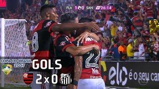 Gols - Flamengo 2 x 0 Santos - Copa do Brasil 2017 - Globo HD