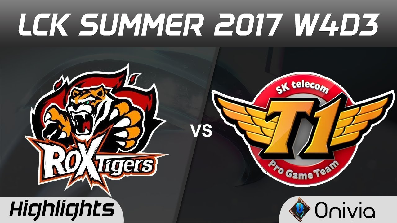 ROX vs SKT Highlights Game 1 LCK SUMMER 2017 ROX Tigers vs SK Telecom By Onivia