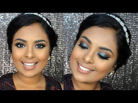 Emerald Green Sparkly Smokey Eyes - Eid Makeup Tutorial using Urban Decay Moondust eyeshadow Zodiac.