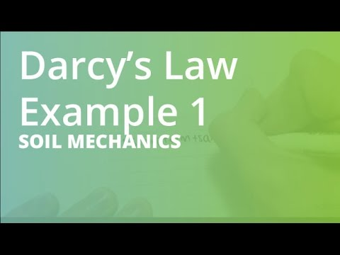 Darcy s law example 1 soil mechanics youtube for Soil is an example of